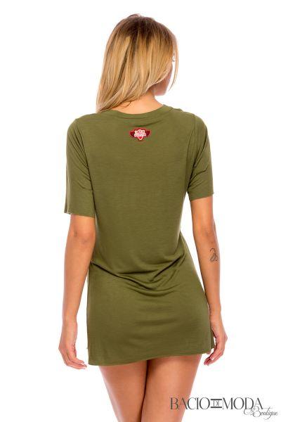 Tricou Bacio Di Moda Army Green   - COD 0410