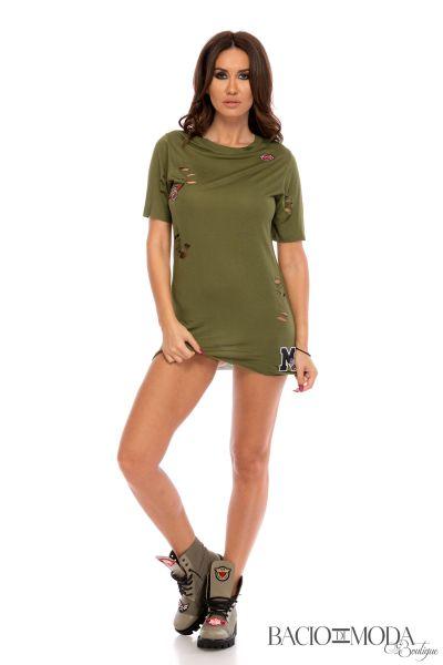 Tricouri Tricou Bacio Di Moda Army Green   - COD 0410
