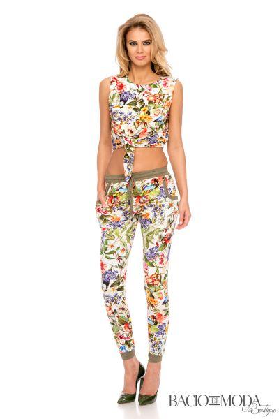 Pantaloni By Bacio Di Moda Veil  COD: 1806 Pantaloni Bacio Di Moda Flower  - COD 0477