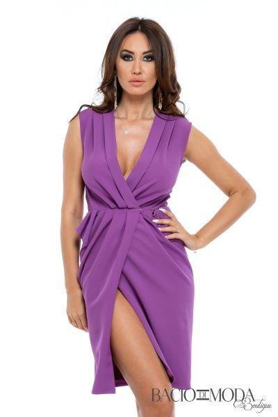Rochie Bacio Di Moda  COD:2414 Rochie Bacio Di Moda Purple COD-0529
