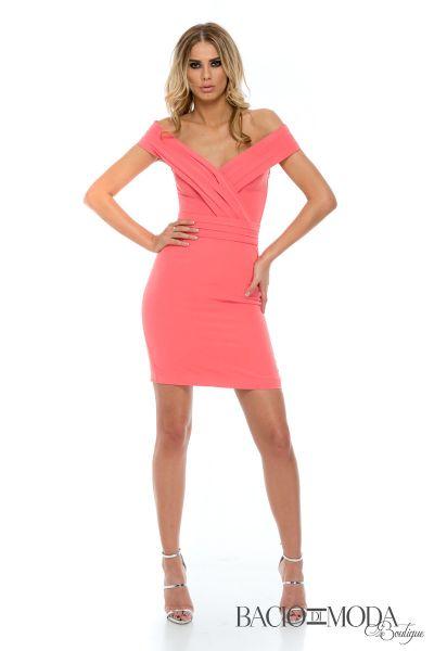 Rochie Antonio Bonnati New Collection Cod:529633 Rochie Bacio Di Moda Corail  - COD 0554
