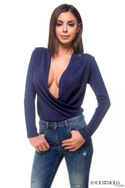 Bluza By Bacio di Moda Flounces  COD: 1256 Body By Bacio Di Moda Blue  COD: 1216