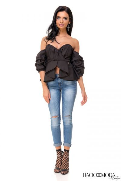 Top By Bacio Di Moda Nero COD: 1499