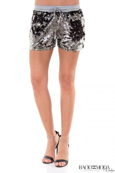 Pantaloni  Bacio Di Moda Fitness Collection COD: 529963 Pantaloni Bacio Di Moda Short Grey Sequins  COD: 1595