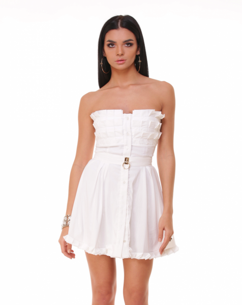 Rochie Bacio Di Moda New Collection COD: 3241 Rochie Bacio Di Moda White Folds  COD: 1636