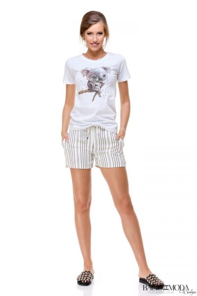 Pantaloni Bacio Di Moda Short Black Stripes  COD: 1697
