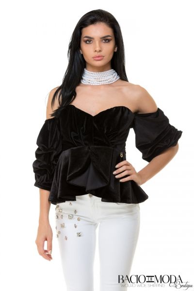 Bluza Bacio Di Moda New Collection COD: 529740 Top Bacio Di Moda Velure  COD: 1808