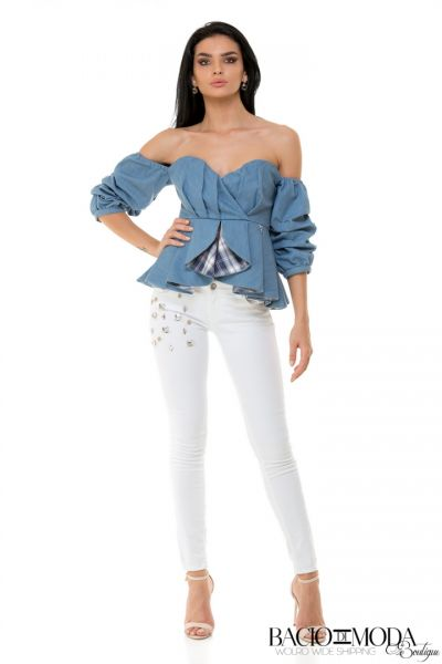 Tricou Antonio Bonnati New Collection COD: 529938 Top Bacio Di Moda Denim  COD: 1809