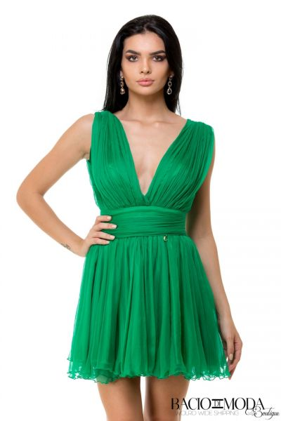 Rochie Anda Adam Collection By Bacio di Moda  - COD 0602 Rochie Bacio Di Moda Green Baby Doll  COD: 1817