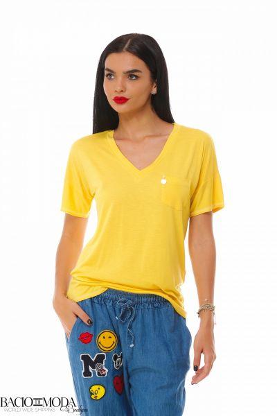 Tricouri Tricou Bacio Di Moda Logo Yellow   COD: 1899