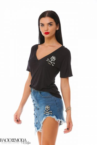 Bluza Bacio Di Moda New Collection COD: 3746 Tricou Bacio Di Moda Black Bonne  COD: 1905