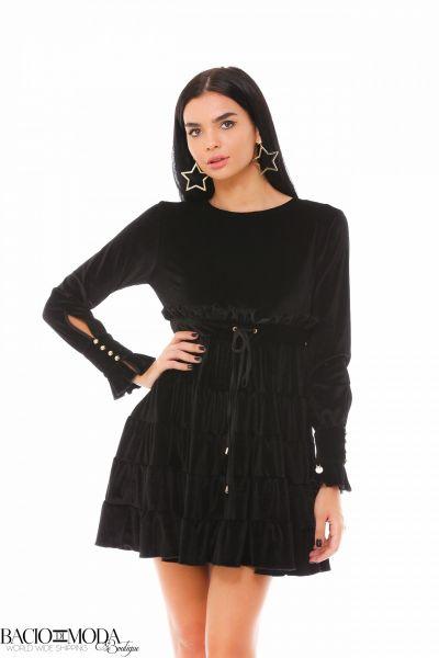 Rochie Bacio Di Moda  Long  COD: 1913 Rochie Bacio Di Moda Velure Black COD: 1924