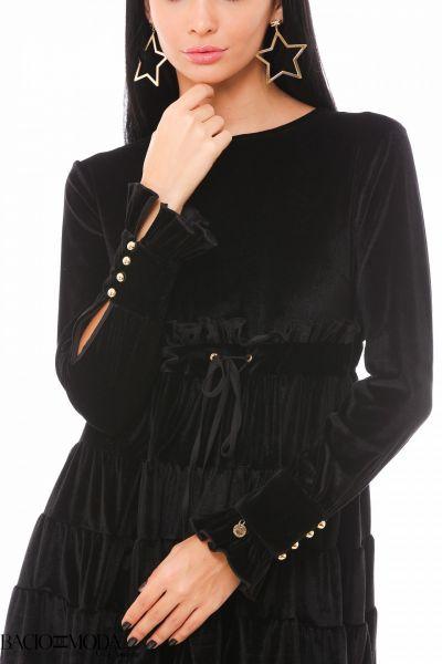 Rochie Bacio Di Moda Velure Black COD: 1924