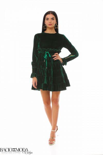 Rochie Bacio Di Moda Velure Green COD: 1925