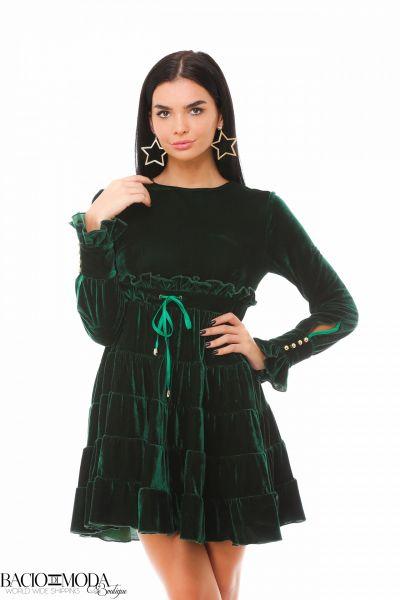 Rochie Bacio Di Moda Babe Black  COD: 1613 Rochie Bacio Di Moda Velure Green COD: 1925