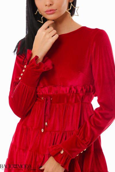 Rochie Bacio Di Moda Velure Red COD: 1927