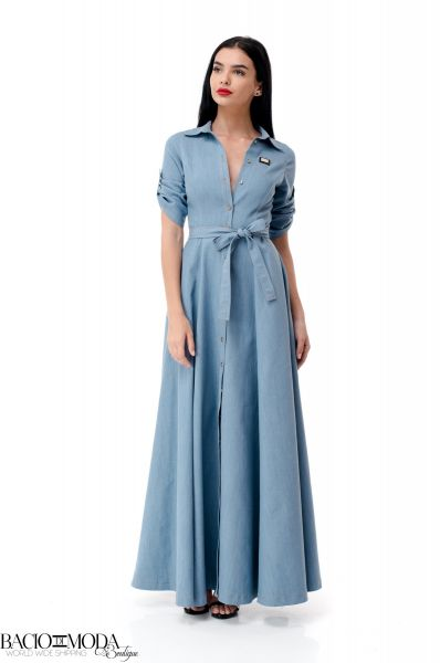 Jeans Rochie Bacio Di Moda Denim Closh Long  COD: 1948
