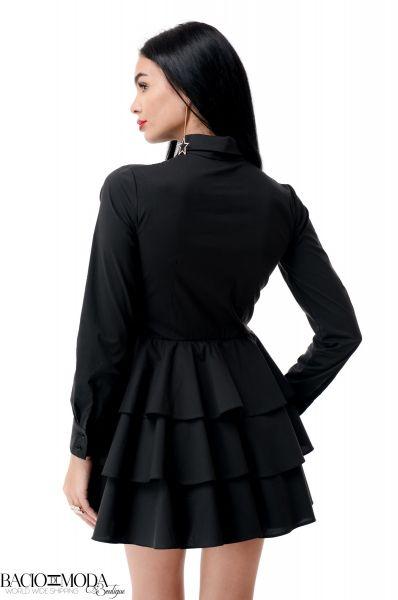 Rochie Bacio Di Moda  Nero Folds  COD: 1955