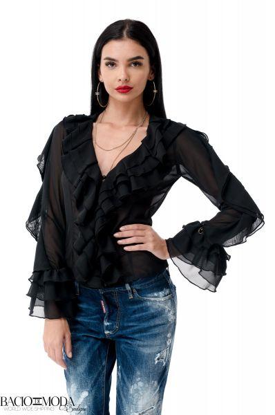 Bluza Isabella Muro New Collection COD: 4066 Camasa Bacio Di Moda Folds  COD: 1956