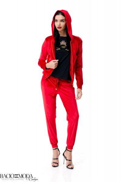 Bluza Bacio Di Moda Red Velure  COD: 1962