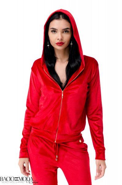 Camasa Elisabetta Franchi Collection SS '18 COD: 2719 Bluza Bacio Di Moda Red Velure  COD: 1962