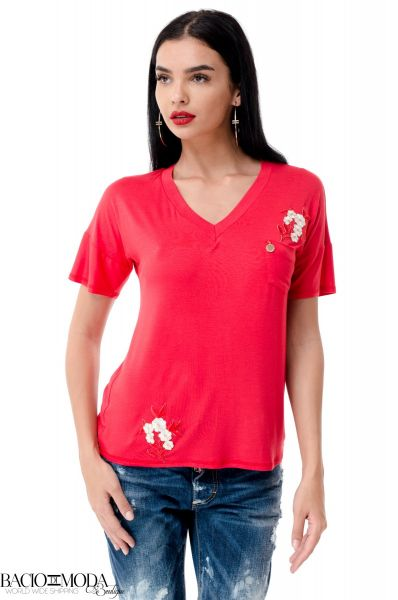 Tricou Antonio Bonnati New Collection COD: 529932 Tricou Bacio Di Moda Logo Flowers  COD: 1963