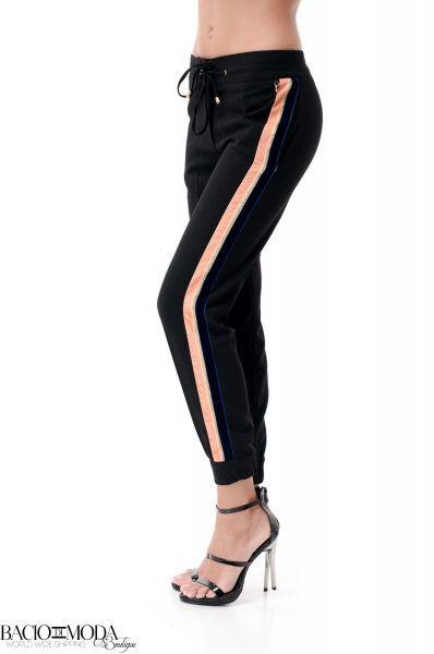 Pantaloni lungi Pantaloni Bacio Di Moda Nero  COD: 1965