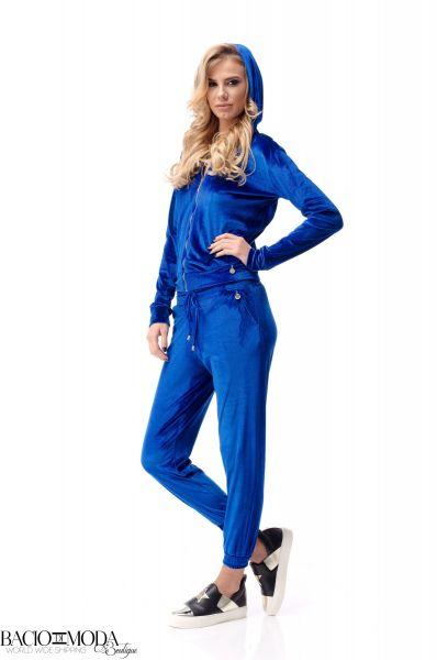 Pantaloni Bacio Di Moda Blue Velure  COD: 2011