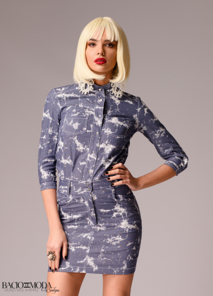 Rochie New By Bacio Di Moda Denim  Collection COD: 3047