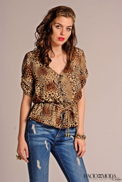 Top Bacio Di Moda Velure  COD: 1808 Bluza Bacio Di Moda New Collection COD: 3238