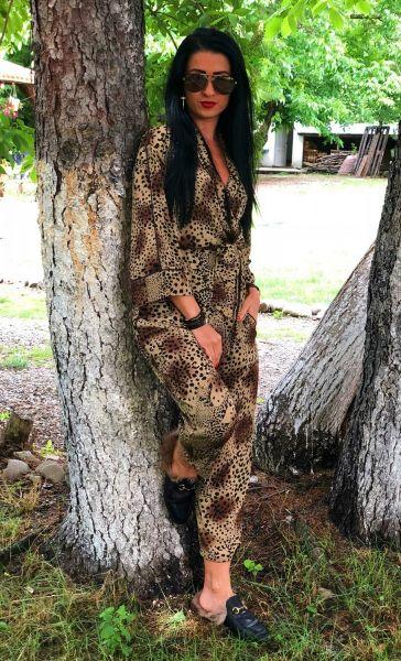 Costum Bacio Di Moda Black Shine - COD 1480 Compleu  Bacio Di Moda Cod: 3336