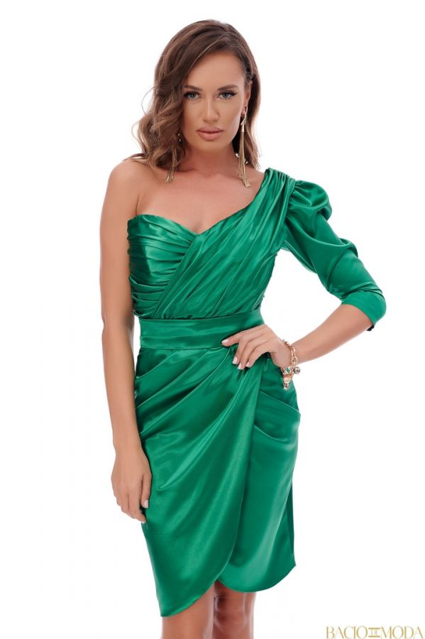 Rochie By Bacio Di Moda Kaky Leather  COD: 1506 Rochie Bacio Di Moda New Collection Cod:529614