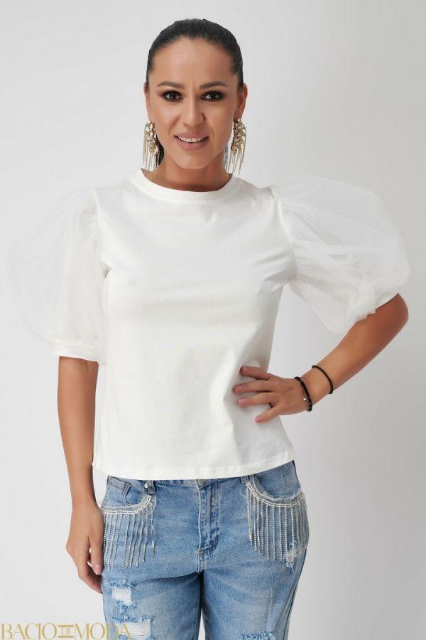 Bluza By Bacio Di Moda Asimetric Pearls COD: 1493 Tricou Antonio Bonnati New Collection COD: 529926