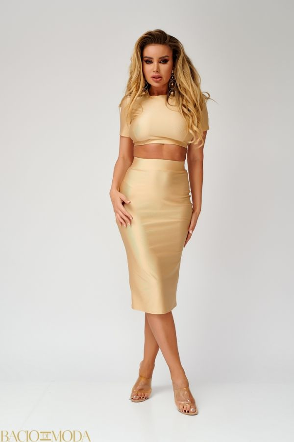 Rochie By Bacio Di Moda Shinny Gold   COD: 1134 Compleu Bacio Di Moda New Collection COD: 530095
