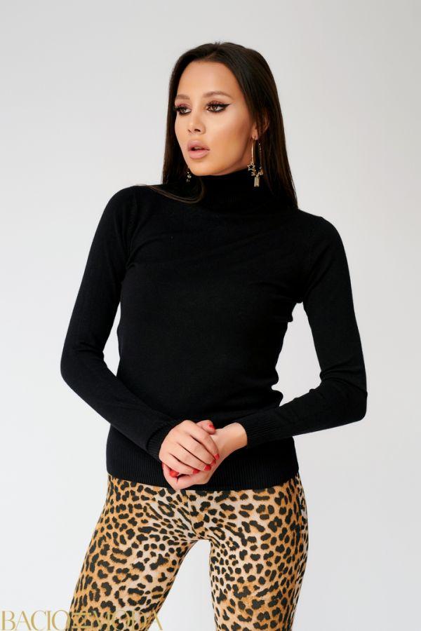 Tricou Bacio Di Moda Long Black  COD: 1601 Pulover Isabella Muro New Collection Cod: 530237