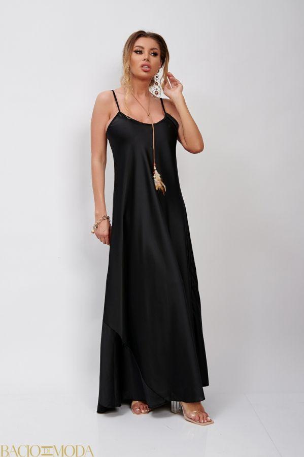 Rochie Bacio Di Moda New Collection COD: 530101 Rochie Lunga Din Satin Antonio Bonnati Cod: 540338