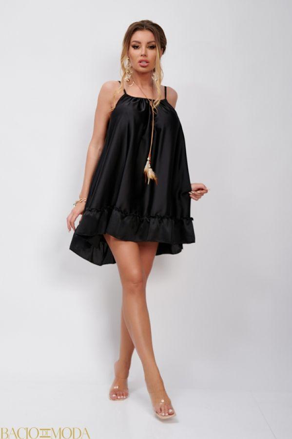 Rochie Bacio Di Moda New Collection COD: 529738 Rochie Din Satin Babydoll Antonio Bonnati Cod: 540389