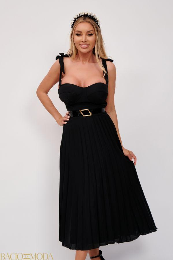 Rochie Bacio Di Moda New Collection Cod:529624 Rochie Eleganta Plisata Antonio Bonnati Cod: 540406