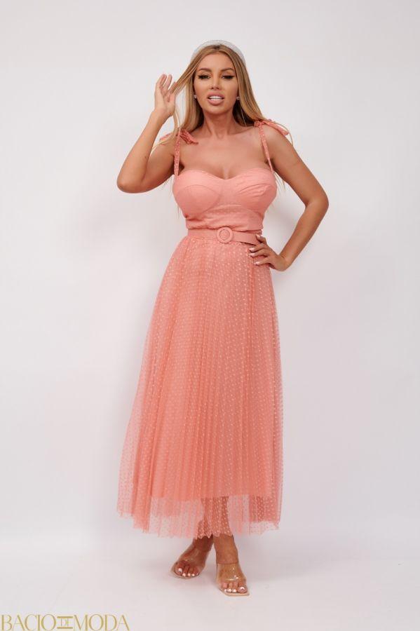 Rochie Bacio Di Moda New Collection COD: 530101 Rochie Eleganta Din Tulle Antonio Bonnati Cod: 540407