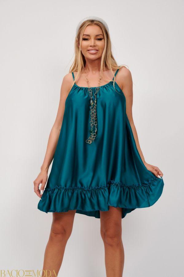 Rochie Bacio Di Moda Cod:5016 Rochie Din Satin Babydoll Antonio Bonnati Cod: 540417