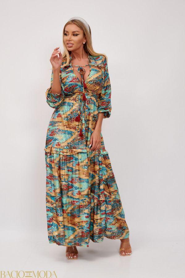 Rochie New By Bacio Di Moda  '18 COD: 2820 Rochie Lunga Multicolora Antonio Bonnati Cod: 540420