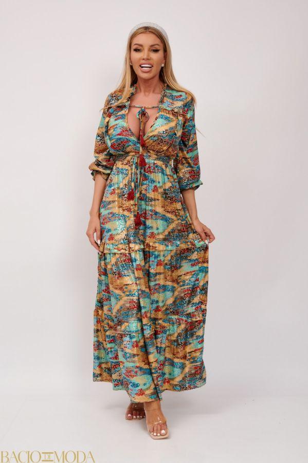 Rochie Lunga Multicolora Antonio Bonnati Cod: 540420