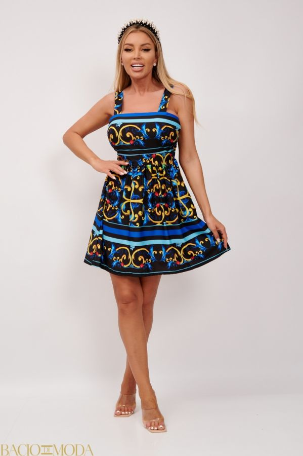 Rochie Scurta Multicolora Cu Imprimeu Antonio Bonnati Cod: 540427