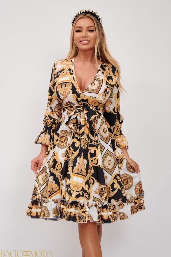 Rochie Bacio Di Moda Cod: 540262 Rochie  Multicolora Decoltata Antonio Bonnati Cod: 540457