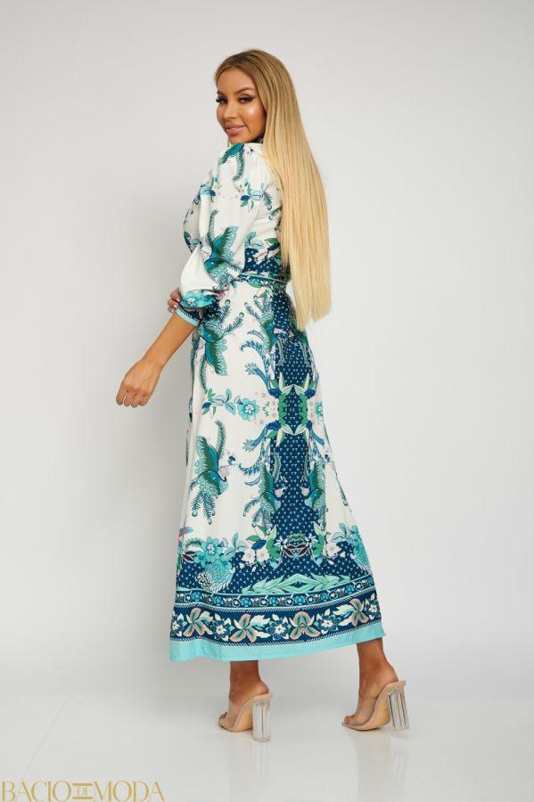 Rochie Lunga Multicolora Cu Cordon Antonio Bonnati Cod: 540483