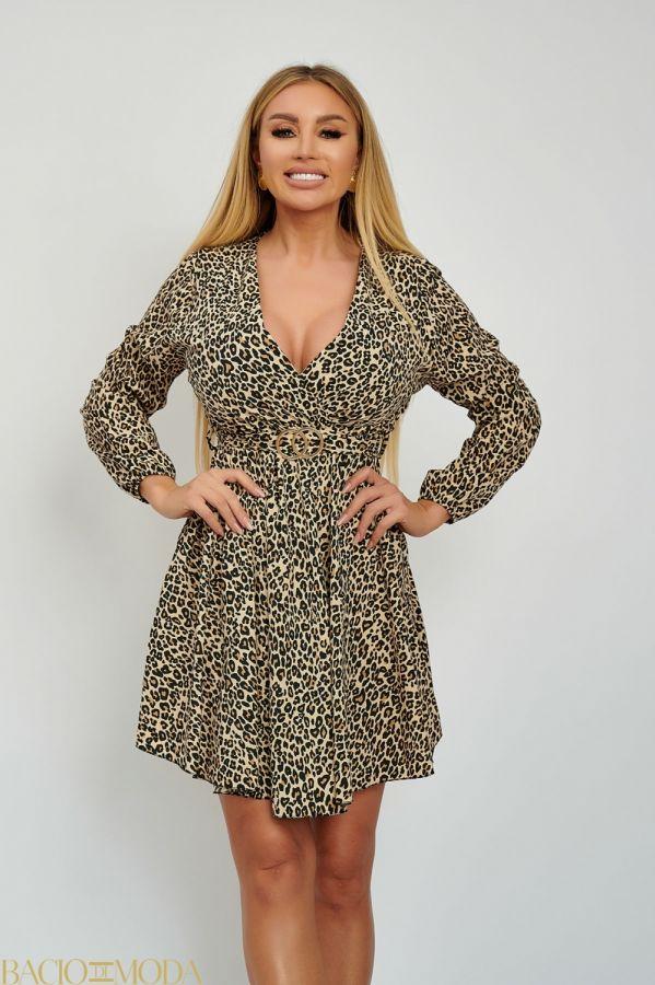 Rochie Bacio Di Moda Long Sequins  COD: 1620 Rochie Plisata Animal Print Cordon Inclus Antonio Bonnati  Cod: 540587