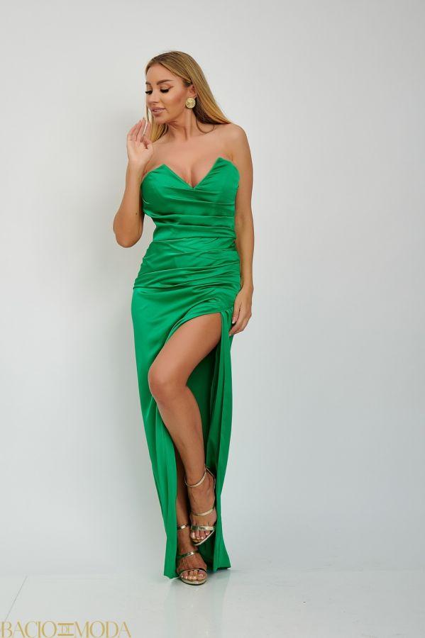 Rochie Scurta Multicolora Cu Imprimeu Antonio Bonnati Cod: 540427 Rochie Din Satin Lunga Bacio Di Moda  Cod: 540626