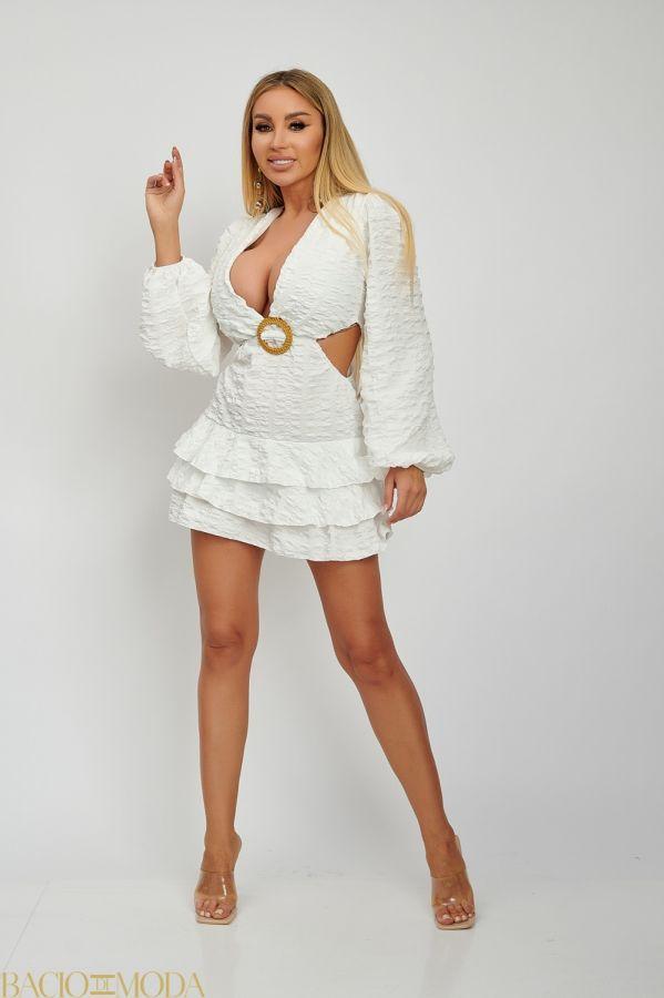 Rochie Scurta Decupata Lateral Isabella Muro Cod: 540650