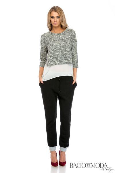 Pantaloni Bacio Di Moda Short Black Stripes  COD: 1697 Pantaloni Bacio Di Moda Sport  - COD 0104